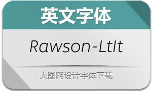 Rawson-LightItalic(英文字体)