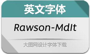 Rawson-MediumItalic(英文字体)