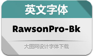 RawsonPro-Black(英文字体)