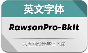 RawsonPro-BlackIt(英文字体)