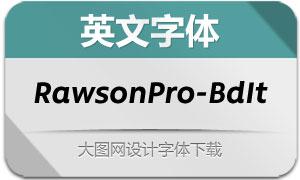 RawsonPro-BoldItalic(英文字体)