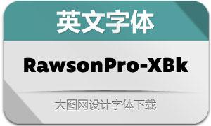 RawsonPro-ExtraBlack(英文字体)