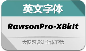 RawsonPro-ExtraBlackIt(英文字体)