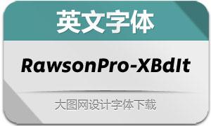RawsonPro-ExtraBoldIt(英文字体)