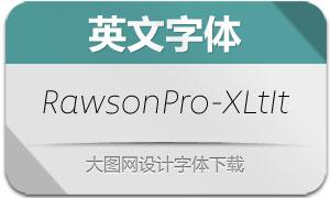 RawsonPro-ExtraLightIt(英文字体)