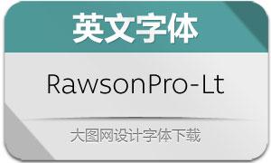 RawsonPro-Light(英文字体)
