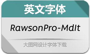 RawsonPro-MediumIt(英文字体)