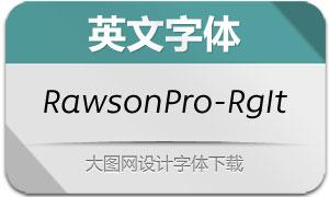 RawsonPro-RegularIt(英文字体)