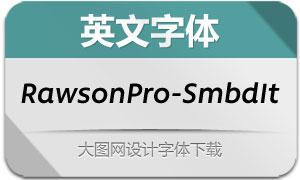 RawsonPro-SemiBoldIt(英文字体)
