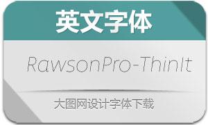 RawsonPro-ThinIt(英文字体)