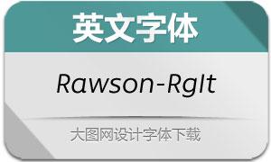 Rawson-RegularItalic(英文字体)