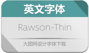 Rawson-Thin(英文字体)