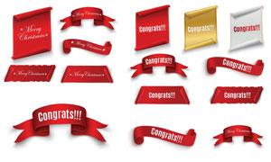 圣诞节等促销活动标签设计矢量素材