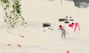 中国风水墨文化背景设计PSD源文件