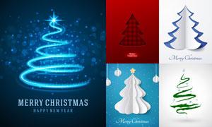 璀璨星光圣诞树等创意设计矢量素材