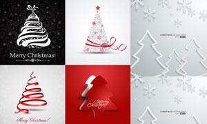 形态各异的圣诞树创意设计矢量素材