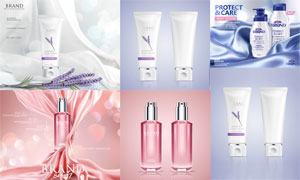 护肤洁面个护产品广告设计矢量美高梅娱乐
