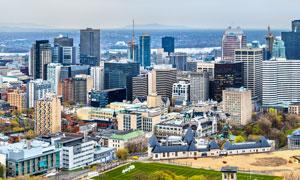 海边的大城市建筑风光摄影高清图片