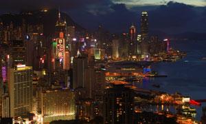 香港的维多利亚港繁华夜景高清图片