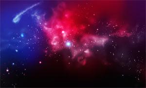 梦幻宇宙星空和星光装饰PS笔刷