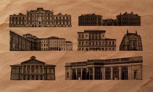 10款欧式建筑物PS笔刷