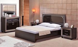 卧室双人床与梳妆台等摄影高清图片
