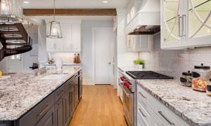 简约欧式风格厨房内景摄影高清图片