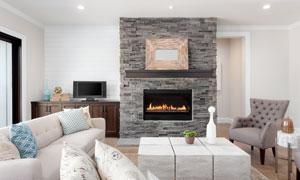 欧美客厅壁炉与沙发等摄影高清图片