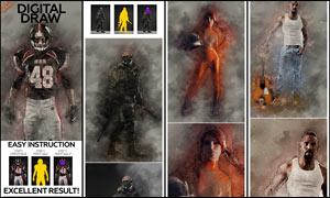 数码照片转数字绘画艺术效果PS动作