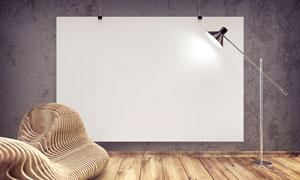 悬挂样式空白效果绘画展示高清图片