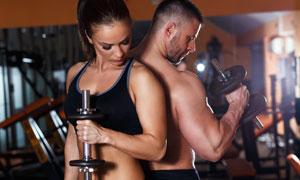 健身运动男女人物写真摄影高清图片