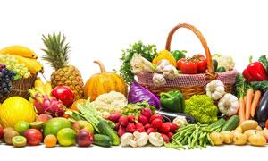 菠萝南瓜与西瓜等蔬菜水果高清图片