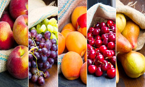 苹果葡萄与枇杷樱桃等水果高清图片
