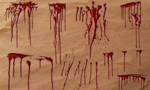 立体血迹流淌效果PS笔刷