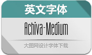 Achiva-Medium(英文字体)