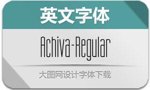 Achiva-Regular(英文字体)