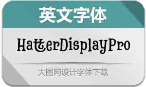 HatterDisplayPro系列12款字体