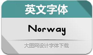 Norway(英文字体)