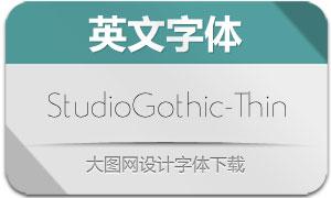 StudioGothic-Thin(英文字体)