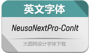 NeusaNextPro-ConIt(英文字体)
