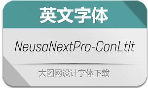 NeusaNextPro-ConLtIt(英文字体)