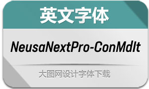 NeusaNextPro-ConMdIt(英文字体)