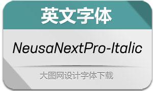 NeusaNextPro-Italic(英文字体)