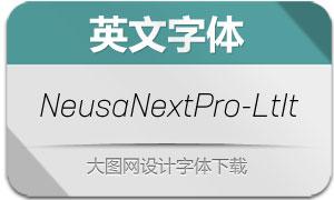 NeusaNextPro-LightItalic(英文字体)