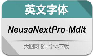 NeusaNextPro-MediumIt(英文字体)