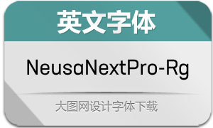 NeusaNextPro-Regular(英文字体)
