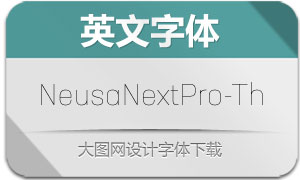 NeusaNextPro-Thin(英文字体)