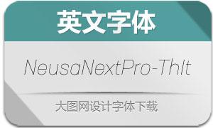 NeusaNextPro-ThinItalic(英文字体)
