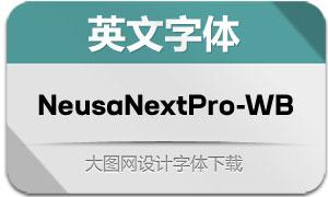 NeusaNextPro-WideBold(英文字体)