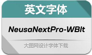 NeusaNextPro-WideBoldIt(字体)